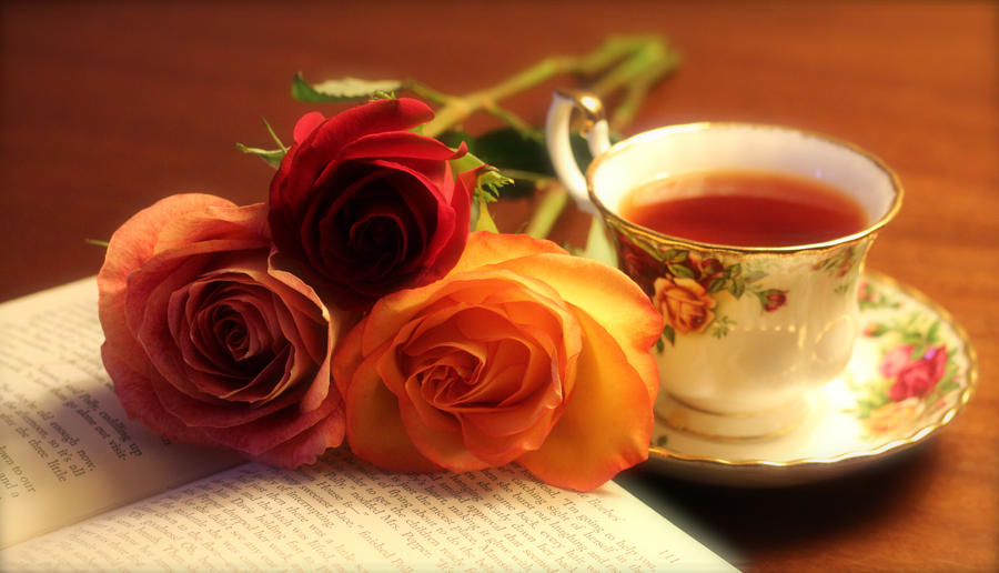 Rose. Tea. Book. by JosephTimbury