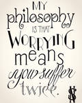 Worrying Means You Suffer Twice