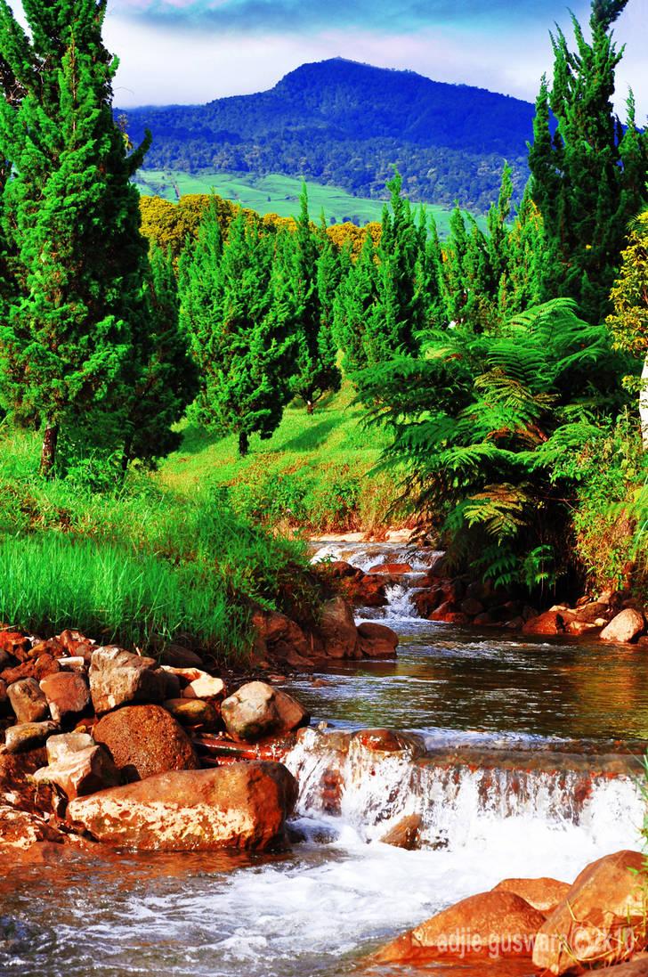 morning river flow by adjieguswara-art