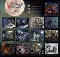 [WEREWOLF CALENDAR 2022] Illustrations Overview