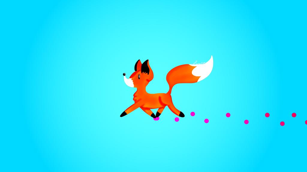 Cute Fox Wallpaper by ScytheaAndLanarkine on DeviantArt