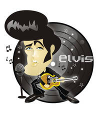 Elvis Presley by nicoletaionescu