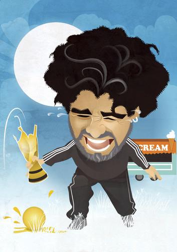 Diego Maradona by nicoletaionescu