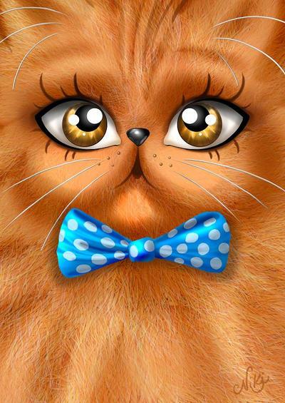 The Persian Cat by nicoletaionescu