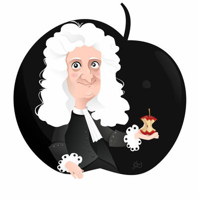 Isaac Newton by nicoletaionescu