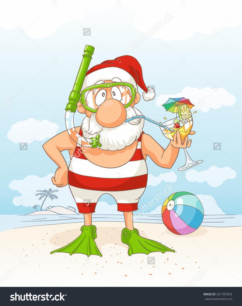 Santa on Vacation by nicoletaionescu