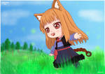 Holo (Horo) Chibi [Spice and Wolf FanArt](+Video) by TheLukrie