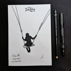 INKTOBER Day 9 - Swing