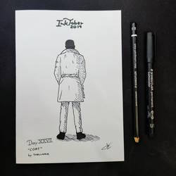 INKTOBER Day 27 - Coat