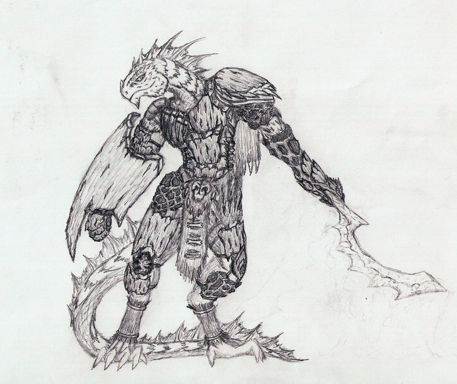 Xevozz, Lizardfolk Warden by Urazel