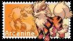 Arcanine Stamp by SandraThePorcupine