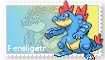 Feraligatr Stamp by SandraThePorcupine