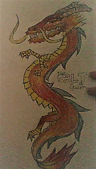 Chinese Dragon (Sadly terrible quality) by TheSaltQueen