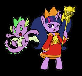 I turned Celestia into a spoon by Trojan-Pony