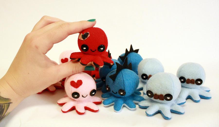 Tiny octos!! by jaynedanger