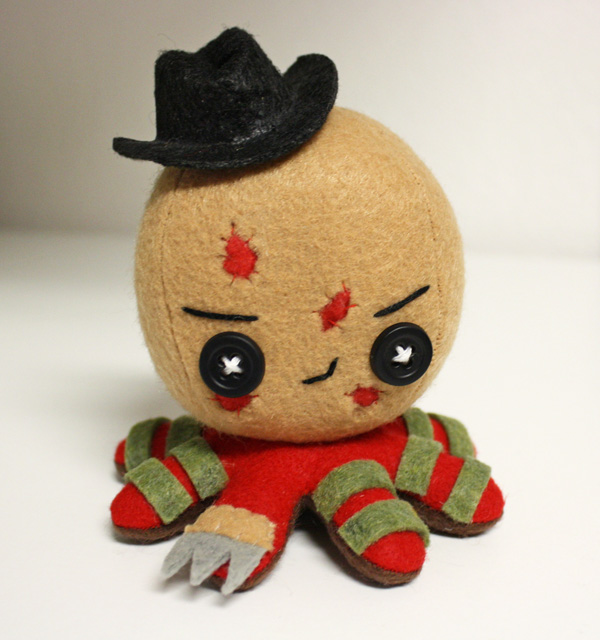 Freddy Krueger octo-plushie by jaynedanger