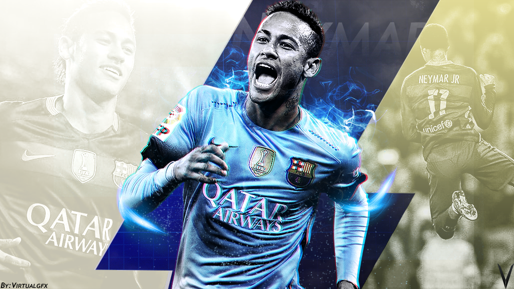 Neymar Junior Wallpaper By VirtualGfx2001