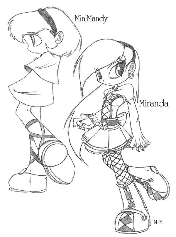 Minnie and Miranda sketch by Inked-Alpha