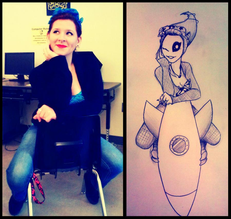 tattoo design 1 rocket ship rider by inked alpha on deviantart. Black Bedroom Furniture Sets. Home Design Ideas