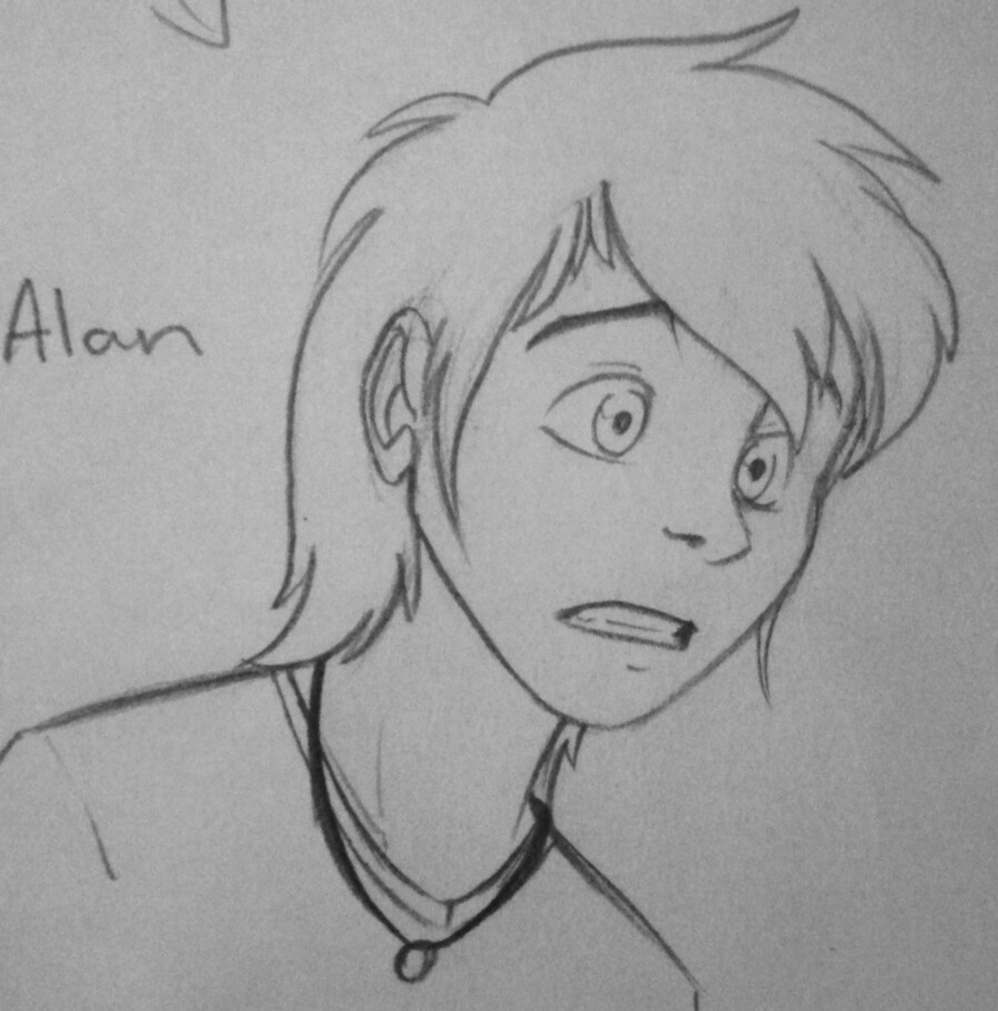 Human Alan Sketch by Inked-Alpha