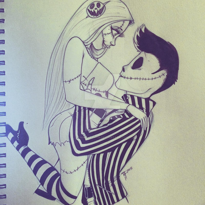 Jack and Sally- sketch by Inked-Alpha on DeviantArt