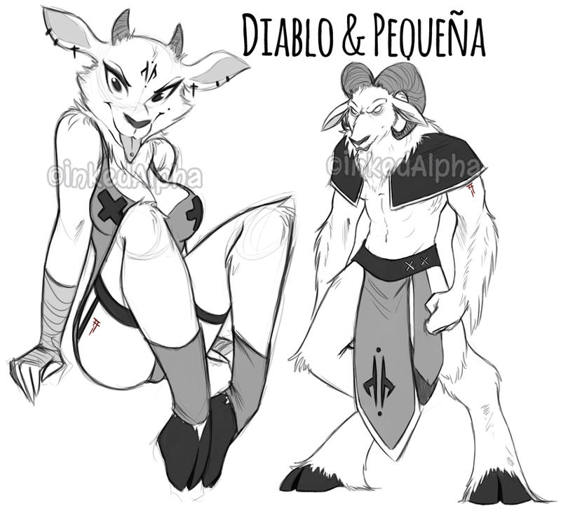 Into Oblivion- Diablo and Pequena by Inked-Alpha