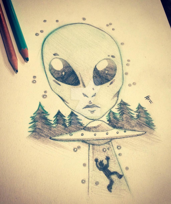 Sketch- Alien Abduction by Inked-Alpha on DeviantArt
