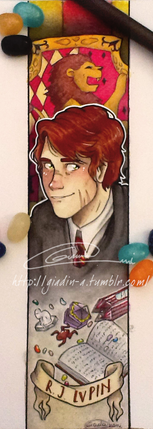 R. J. Lupin Bookmark by giadina96