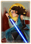 Rey - Star Wars Tarot Card