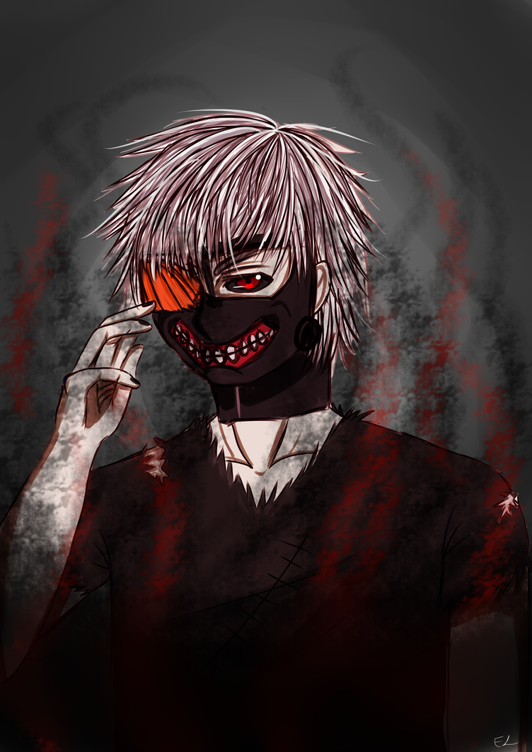 Tokyo Ghoul: White Haired by EzmeAG98