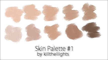 Skin Colors On Palettes Deviantart