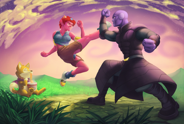 Sparring by iguancheg