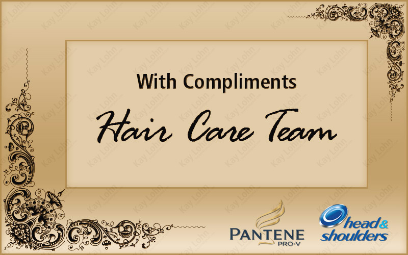 with compliments