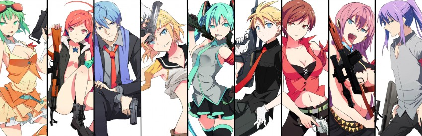 Gun Slingers Vocaloid Group by Allyerion