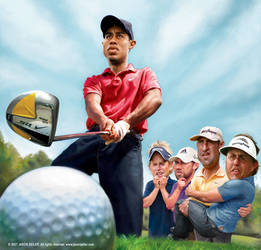 Tiger Woods on GOLF Magazine by jasonseiler