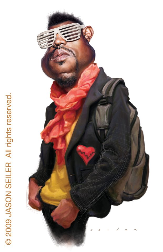 ... caricaturas ...quién soy ... Kanye_West_by_jasonseiler