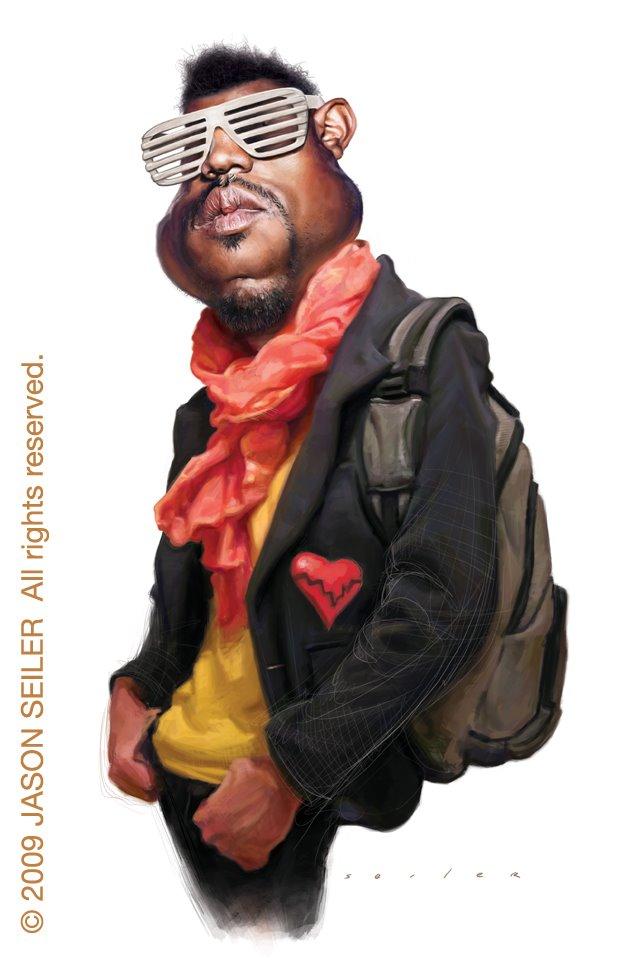 Caricaturas de famosos Kanye_West_by_jasonseiler
