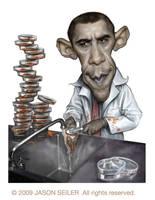 Lab Coat Obama by jasonseiler