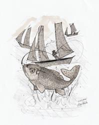 Inktober Day 1 - Fish