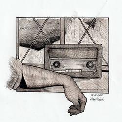 Inktober Day 4 - Radio