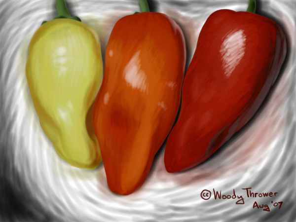 Three Peppers by woodythrower