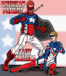American Patriot And Lady America by spake759