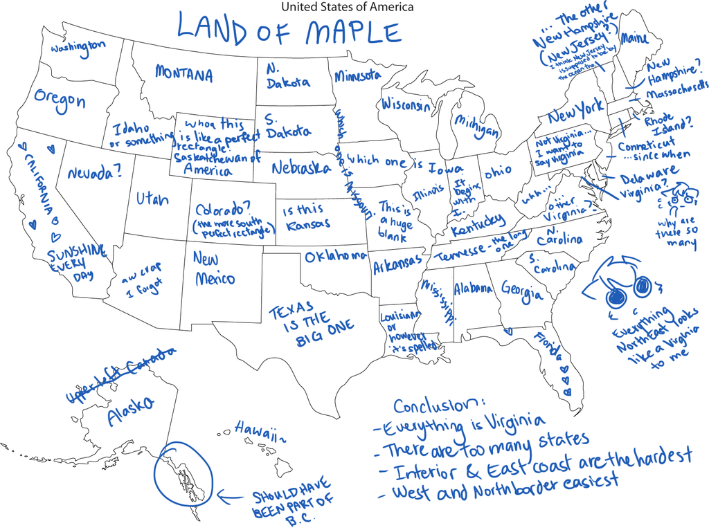 Fillable Map - Map of us to fill in