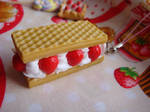 Strawberry deco waffle