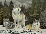 We three - wolf painting