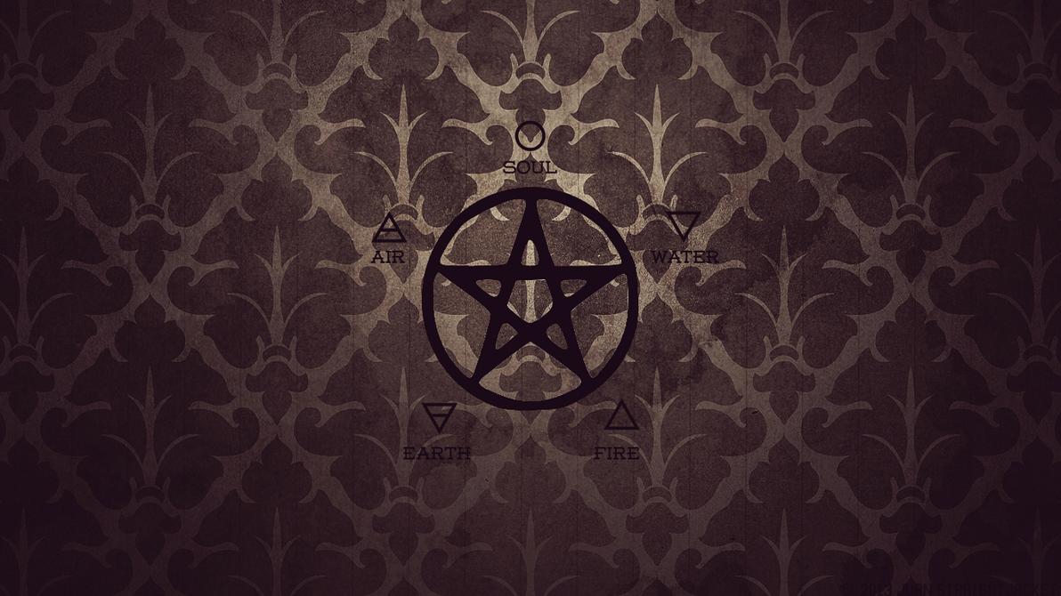 wicca pentagram air water fire earth soul by