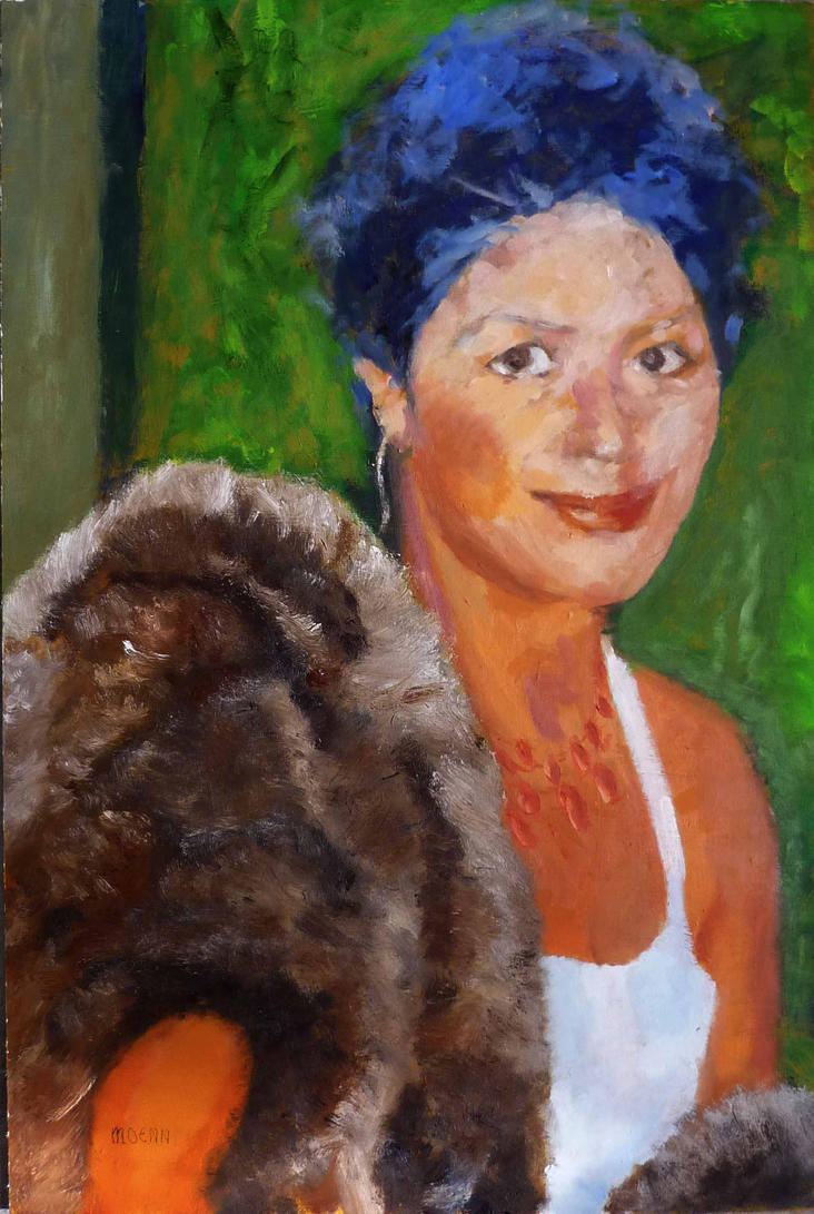Lady with Fur Stole by Moenn