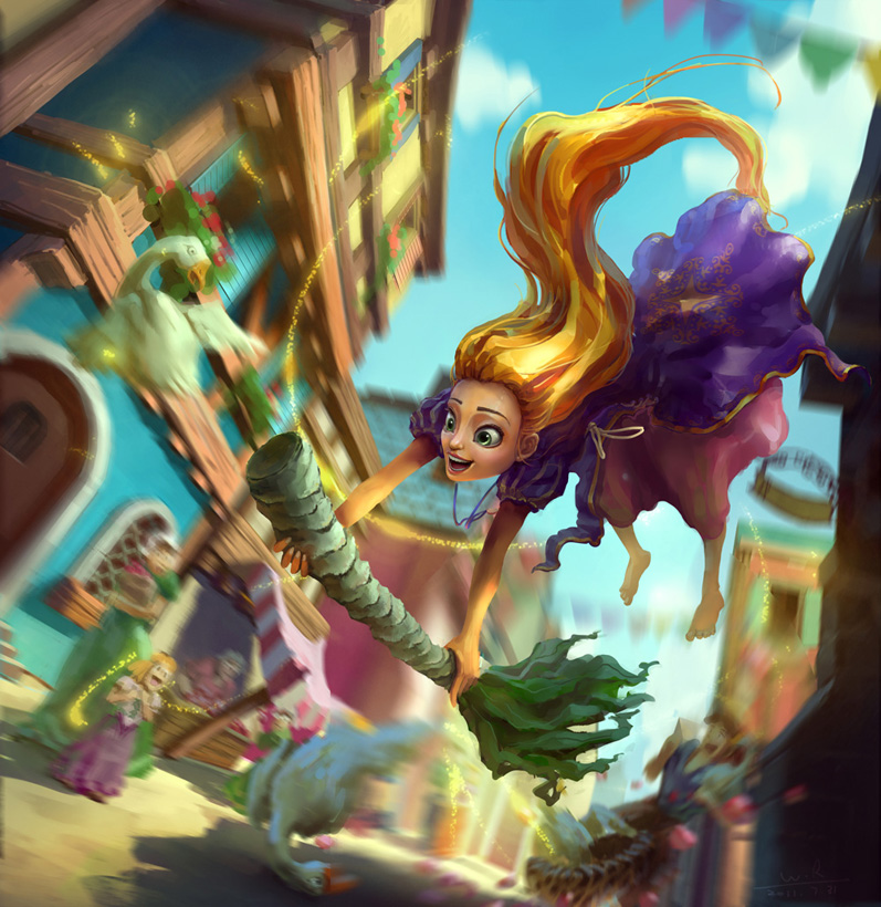 Rapunzel by arui001
