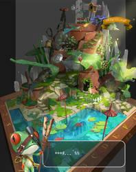 Frog village by arui001