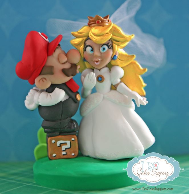 Super Mario and Princess Peach Wedding Cake Topper by Christina ...